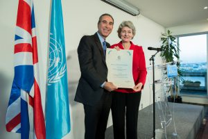 Professor Khalili designated as a goodwill Ambassador by UNESCO Director–General, Ms. Irina Bokova, 2012